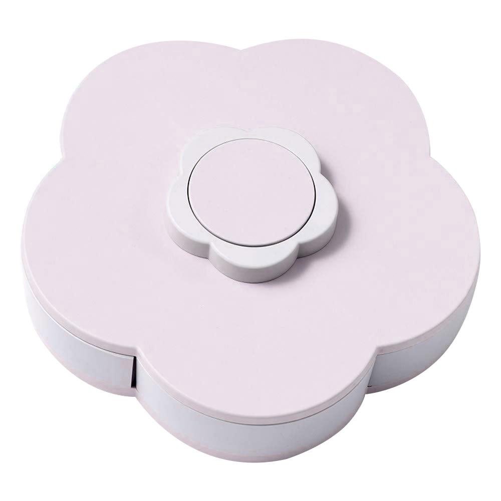 Сушеное блюдо для фруктов и конфет коробка для хранения цветок лепесток формы закуски пластик 5 сетки Творческий вращающийся коробка конфет Многофункциональный