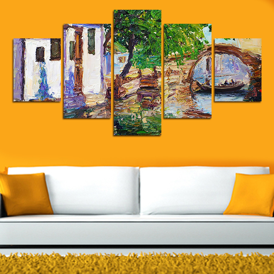 5PCS Classical Home Decor Canvas Wall Art Decor Painting Wall ...
