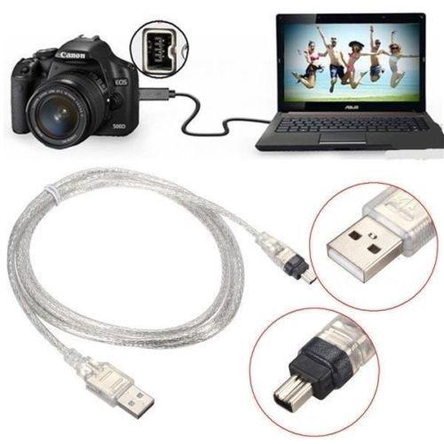 1.5 M/5FT USB 2.0 mâle à 4 broches IEEE 1394 câble FireWire adaptateur de plomb convertisseur
