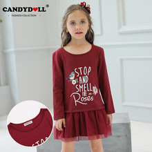 CANDYDOLL  A new dress for girls in the fall, princess is made of cotton and knitted kids dresses