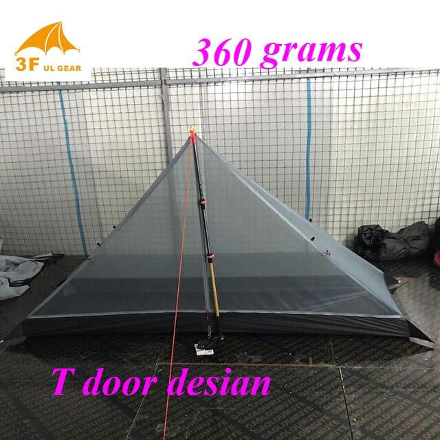 360 gramm 3 jahreszeiten T türen design strut ecke ultraleichte outdoor camping tent fit meisten pyramide zelt
