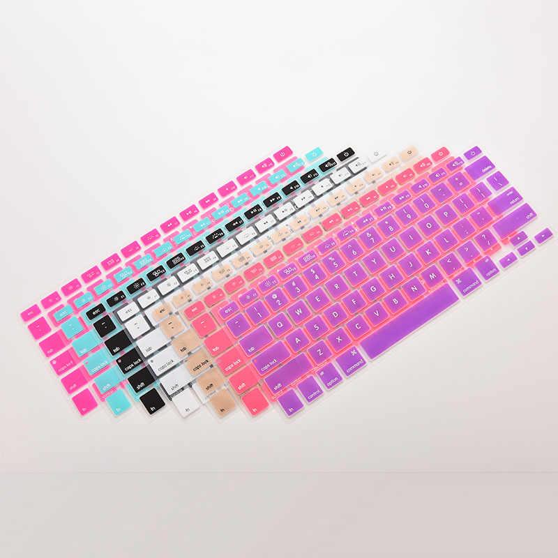 7 Candy Farben Silikon Tastatur Abdeckung Aufkleber Für Macbook Air 13 Pro 13 15 17 Protector Aufkleber Film