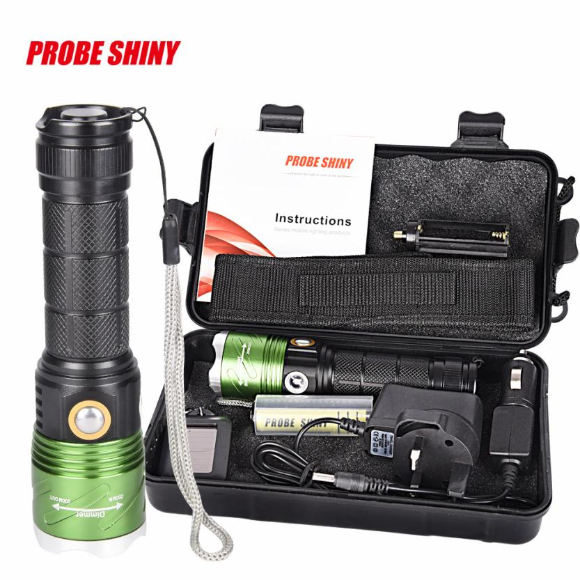 DC 22 Shining Hot Selling Drop Shipping X800 Zoomable XML T6 LED Tactical Flashlight+18650 Battery+Charger+Case factory price binmer hot selling usb cable charger for 18650 rechargeable li ion battery power adapter drop shipping