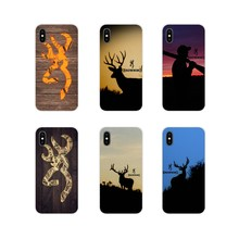 For Huawei P Smart Mate Honor 7A 7C 8C 8X 9 P10 P20 Lite Pro Plus Hot Browning Hunting Deer Head Accessories Phone Cases Covers(China)