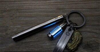 Industrielle Pendelleuchten | TC4 Titan CNC Hohl Kugel Tritium Rohr Selbst-leucht Anhänger Schlüssel Halter Tritium Gas Signal Licht Keychain EDC Multi Werkzeuge