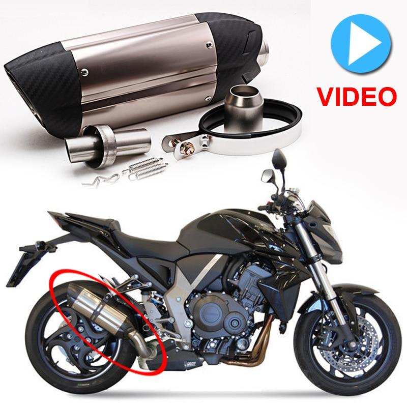 Мотоцикл спортивный автомобиль модифицированный MT07 09 для 10RZX6R10R z800 для итальянской выхлопной трубы дьявола 36-51мм универсальный ниндзя er6n M1014