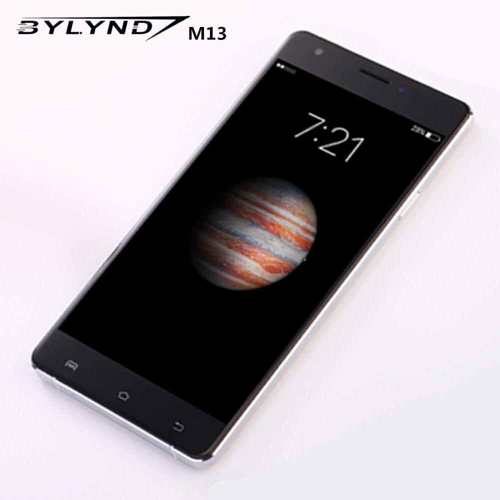 Цена за Оригинальный Смартфоны BYLYND M13 MTK6735 4G LTE Quad Core 5,5 дюйма 1920х1080 13 Мпикс 2GB RAM + 16GB ROM Android мобильный телефон
