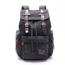цены Vintage Retro Canvas Backpack Travel Casual Leather Bags for both Women and Men Bookbag for Teen Girls and Boys 4 color