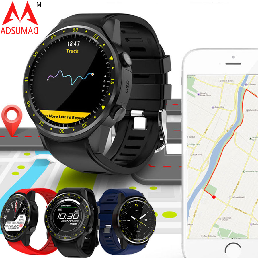 GPS Sport Smart watch+Compass Positioning Support SIM card phone call bluetooth heart rate monitor sleep Altimeter fitband f4 smart brace sport монитор сердечного ритма спортивный шаг heart rate sleep monitor incoming call alert rose gold