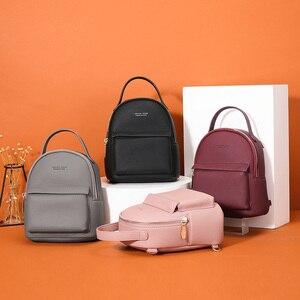 Image 3 - WEICHEN çok fonksiyonlu kadın sırt çantası deri moda küçük sırt çantası kadın bayanlar omuzdan askili çanta Satchel Mini Mochila çanta