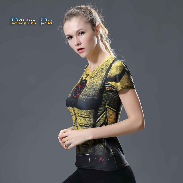 2017 Marvel Women Bodys  T-shirt flash Compression T Shirt Female Fitness Tights Under Tee Shirt Femme Tops wholesale