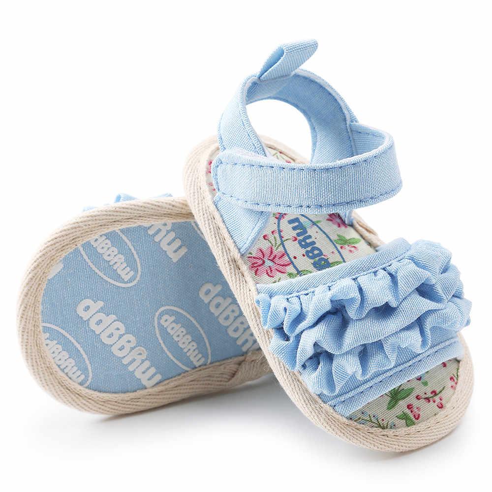 2019 Bebek Çiçek Sandalet Ayakkabı rahat ayakkabılar Sneaker kaymaz Yumuşak Tek bebek ayakkabısı Flip Flop düz Bebek Ayakkabı