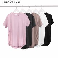 2018 Mens Big And Tall Clothing Designer Citi Trends Clothes T Shirt Homme Curved Hem Plain