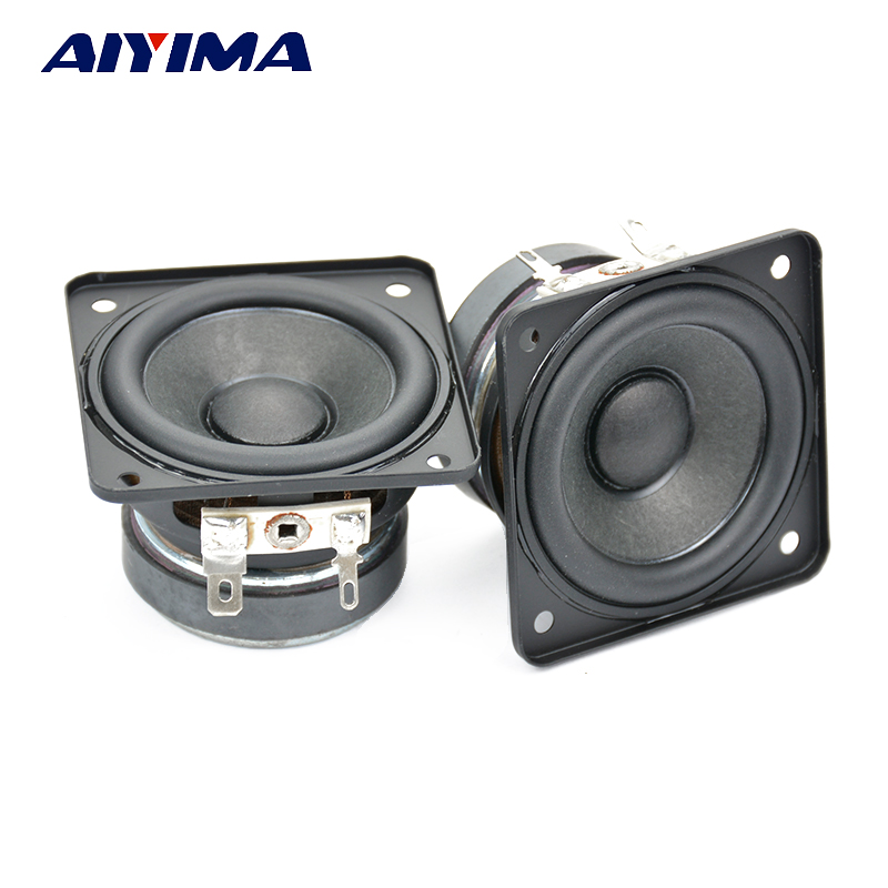 AIYIMA 2Pcs 2Inch Audio Portable Spakers Full Range Speaker 4Ohm 5W Bass Column Computer Multimedia Speakers DIY For Home s3w se 2 0 multimedia speaker system mini multimedia speaker 1way order vented full range speaker 3 full range driver bass
