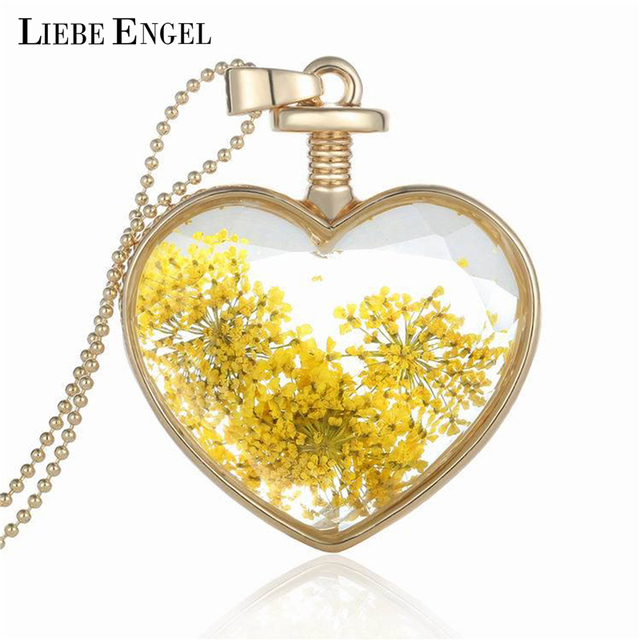 LIEBE ENGEL Crystal Glass Heart Pendant Necklace