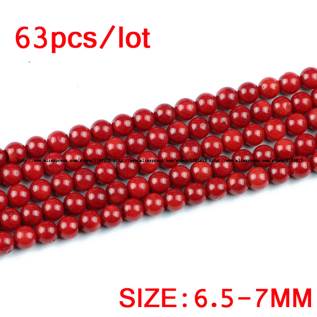 JHNBY Red coral Natural coral stone High quality Round Loose beads ball 2.5/4//5/6/7MM Jewelry bracelet accessories making DIY