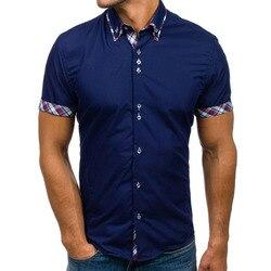 ac272c97b257 New Brand men Clothing 2018 Fashion Shirt Male Dress Shirts Slim Fit  Turn-Down Men