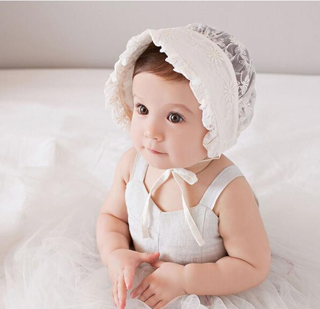 CHAMSGEND Infant Newborn Baby Girls Kids Lace Hat Cap Beanie Bonnet Hats Hair Accesorries Sep21HY