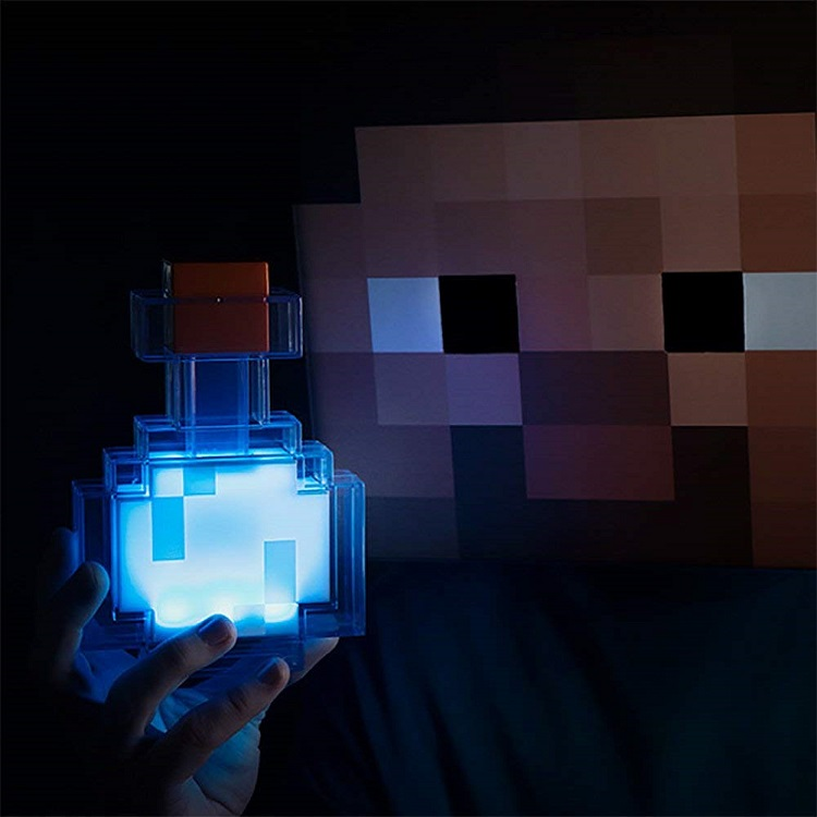 Minecraft Game Light Up Toys Redstone Ore Square Minecraft Night Light LED Minecraft Figure Toys Light Up Children Room Light