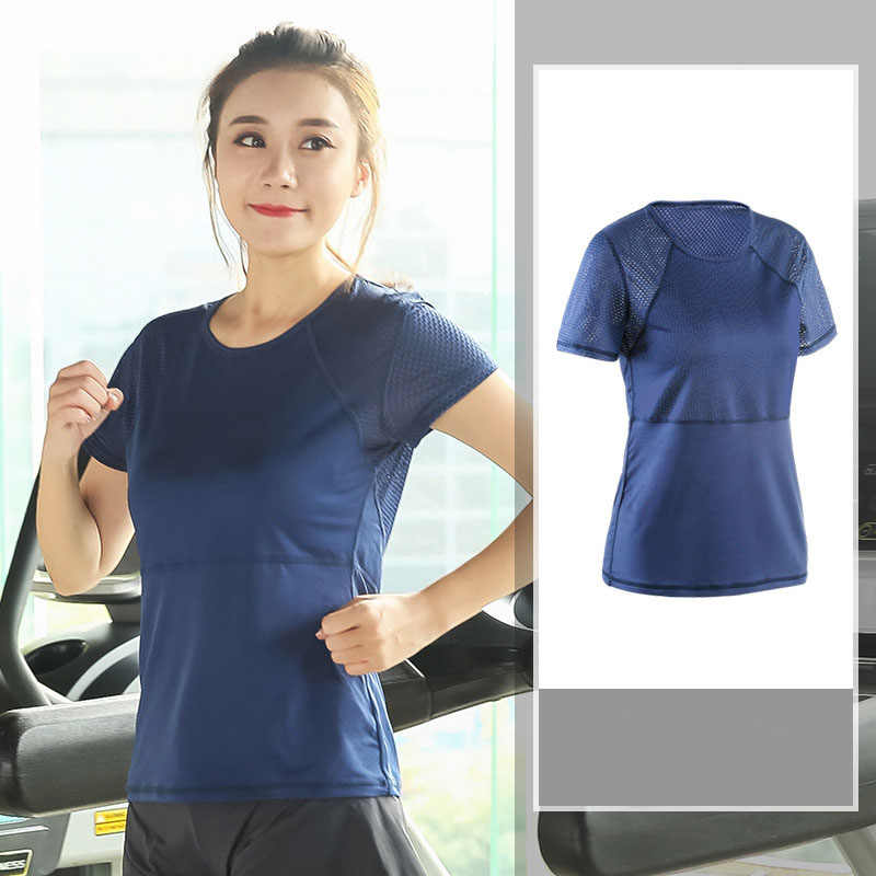 Vrouwen Plus Size Fitness Shirts Workout Mesh Sport T-shirt Quick Dry Running Gym Fitness Ademend Yoga Sport Tops L-XXXXL