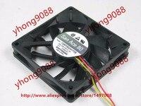 SANYO 109P0824H708 DC 24V 0.10A 80x80x15mm 3 wire Server Cooler Fan