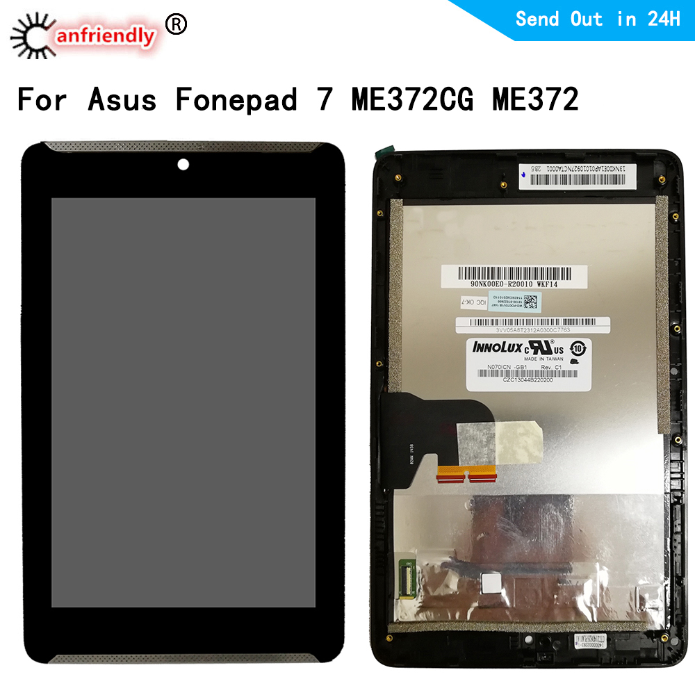 LCD For <font><b>Asus</b></font> Fonepad 7 ME372CG ME372 <font><b>K00E</b></font> LCD display+Touch panel Screen digiziter frame assembly For <font><b>Asus</b></font> Fonepad 7 ME372 image