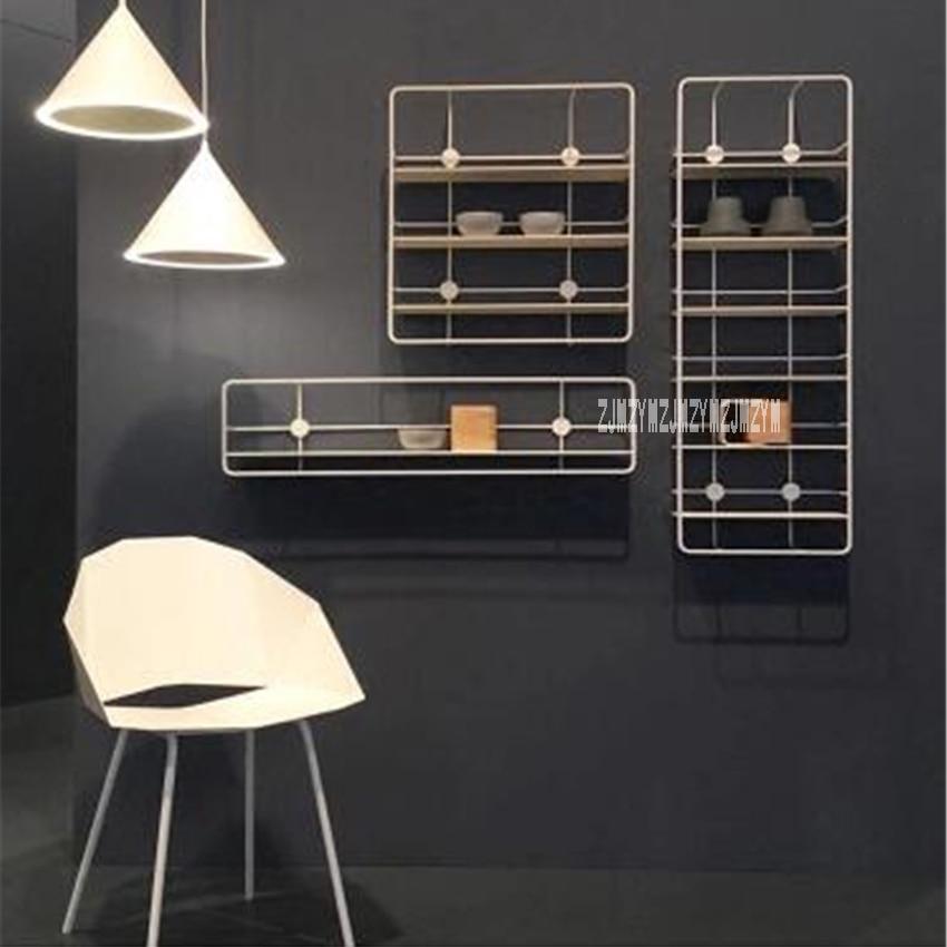 YXM01 Modern Design Wall Mounted Metal Wall Shelf High quality Creative Nordic Home Decoration Display Rack Storage Holders Rack