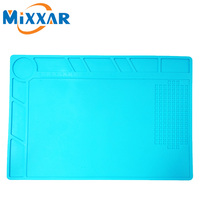 RU Heat Insulation Silicone Pad Desk Mat Maintenance Platform Soldering Repair Hand Tools With Scale Screw