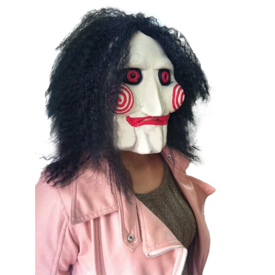 aliexpresscom buy movie saw chainsaw massacre jigsaw puppet masks latex creepy halloween gift full mask scary prop unisex party cosplay supplies from - Puppet Halloween