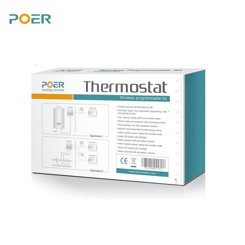 bezdrátový kotelna digitální termoregulátor wifi inteligentní - Měřicí přístroje - Fotografie 5