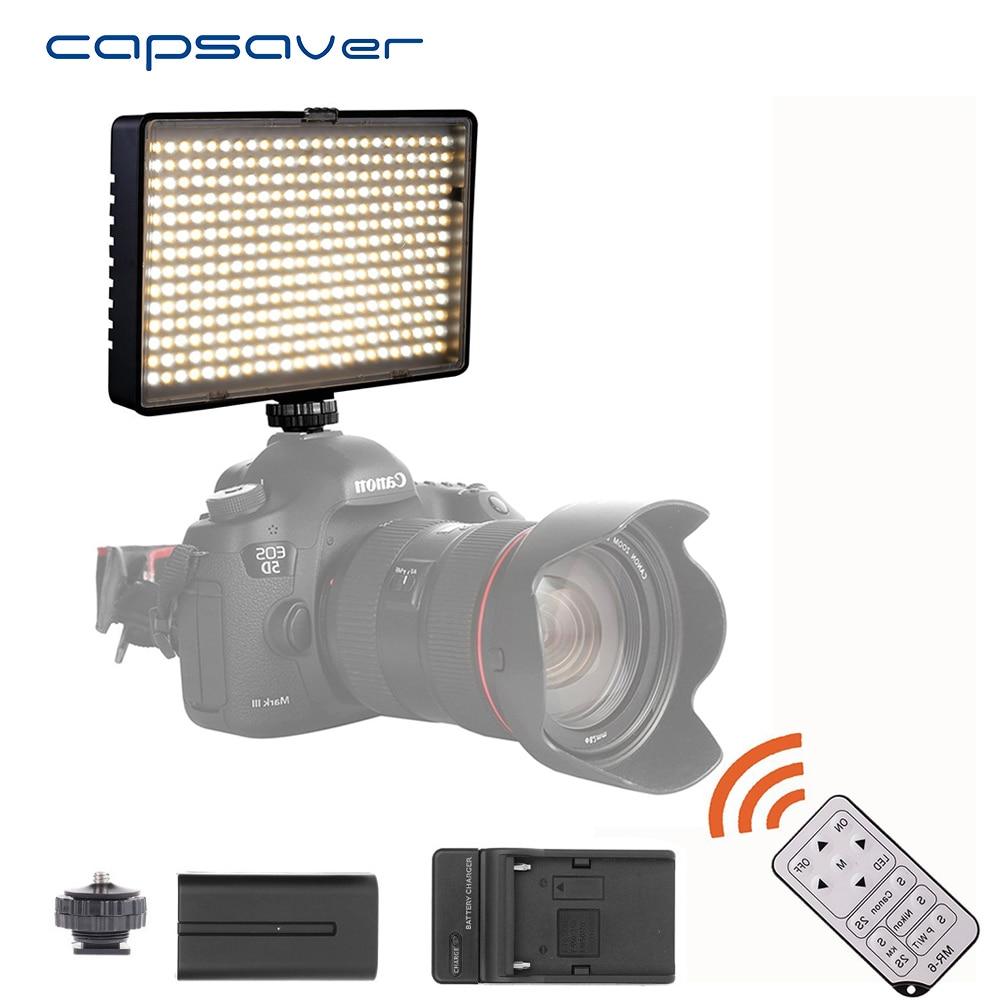 лучшая цена capsaver TL-336AS LED Video Light Photographic Lighting Dimmable 3200K-5500K Remote Control Hand-held LED Studio Light Lamp