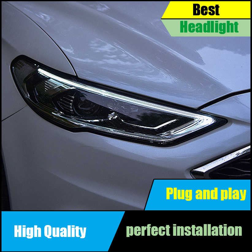 Car Styling Head Lamp For Ford Mondeo Fusion Headlights 2017 2018 Led Headlight Embly Drl
