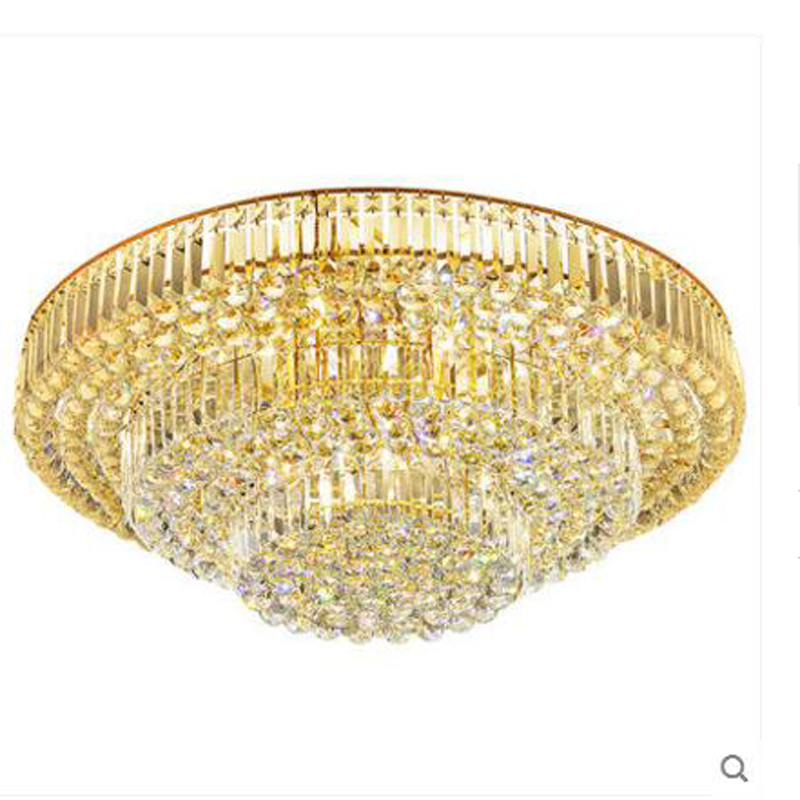 Living room crystal lamp ceiling lamp round living room lamps lighting European led ceiling lighting bedroom restaurant lighting jane european pastoral creative lighting restaurant lamp bedroom balcony living room ceiling lighting hanging iron