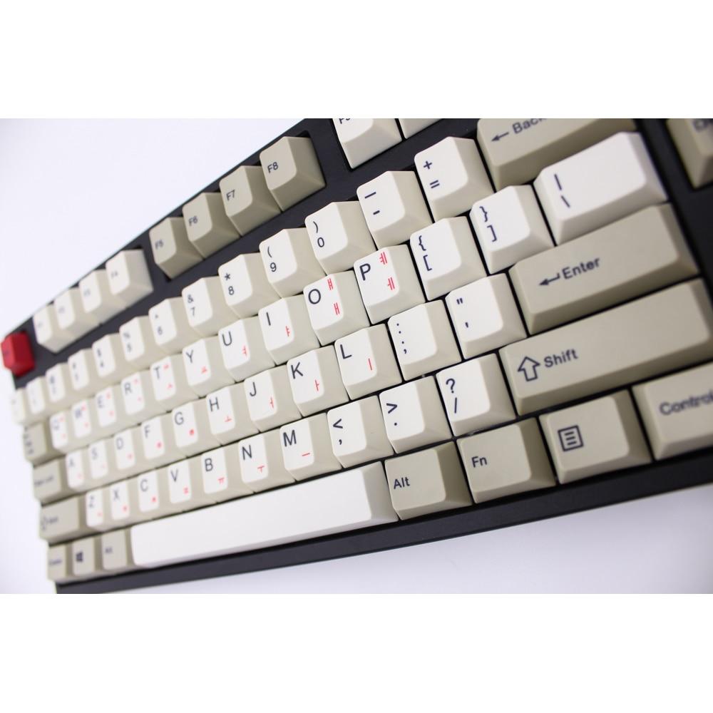 MP Cherry Profile English Korean Version Dye Sublimation 87 112 Keys Thick PBT Keycaps MX Switch
