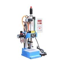 купить JNA63 Single Column Pneumatic Press Pneumatic Punching Machine 220V Small Adjustable Force 200KG Pneumatic Punch Machine 1PC недорого