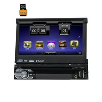 7 1 Din WCE Car DVD Player GPS Navigation Universal In Dash Detachable Front Panel Auto