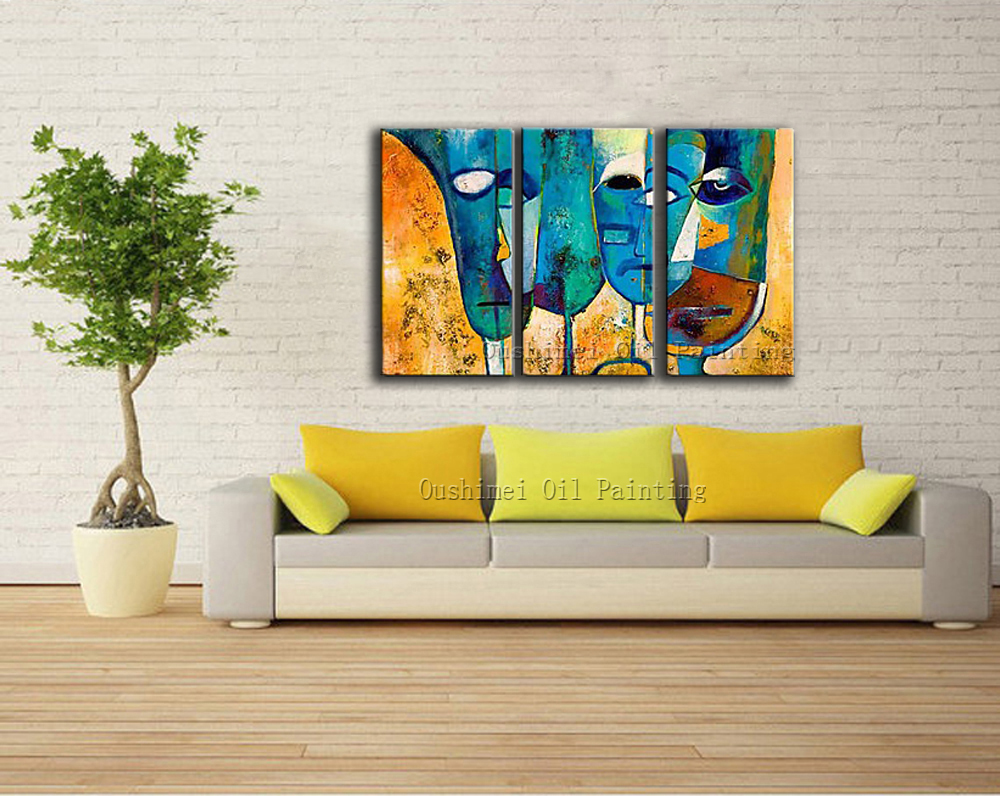 Skills Artist Hand painted High Quality Abstract Face Decorative ...