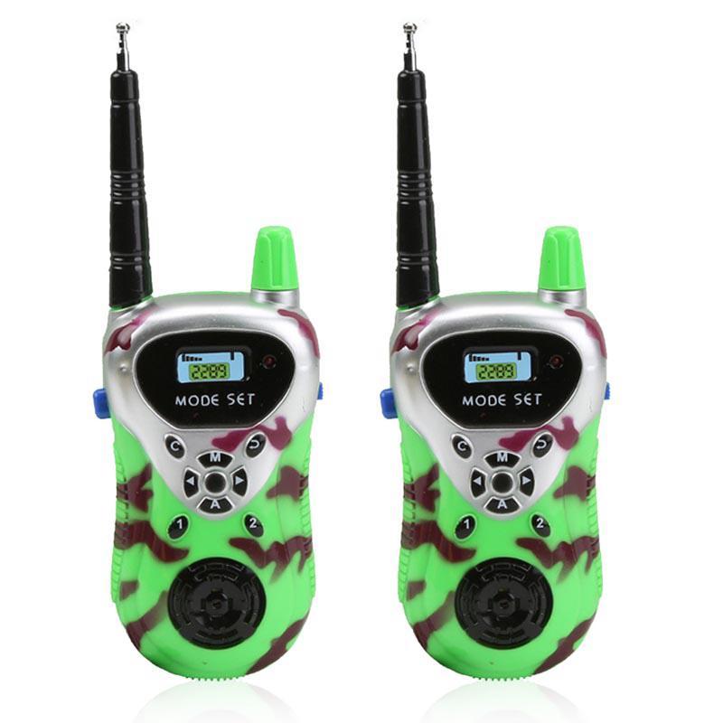 2pcs Kids Walkie Talkies Toy Indoor Outdoor Playground Parent-child Game Interphone Police Cosplay Prop