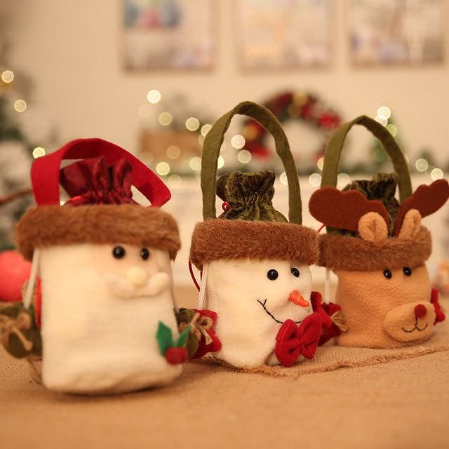 Santa Claus Elk Bags Christmas Cartoon Gift Bag For Kids Children ...