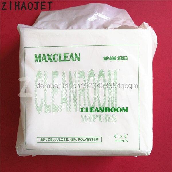 Eco solvent printer Mimaki Mutoh Allwin Flora Xuli Xenons Niprint DX5 DX7 plotter head cleanroom wiper non-dust paper 300pcs
