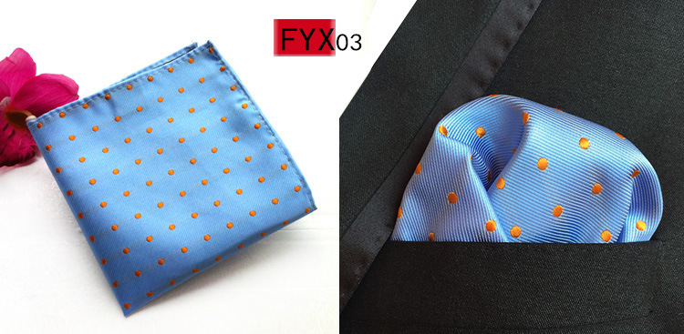 88c77bd135e05 RBOCOTT Mens Pocket Squares Dot Pattern Blue Handkerchief Fashion Hanky For  Men Business Suit Accessories 25cm*25cm-in Men's Ties & Handkerchiefs from  ...