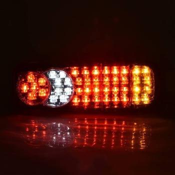 12V 46LED ciężarówka LED światło tylne światła ostrzegawcze tylna lampa do przyczep kempingowych UTE kampery ATV łodzie tanie i dobre opinie Inne None 350*85*130mm Car REAR TAIL INDICATOR lamps Truck Tailights Trailer Boat etc Red and Yellow for stop tail indicator and reverse applications