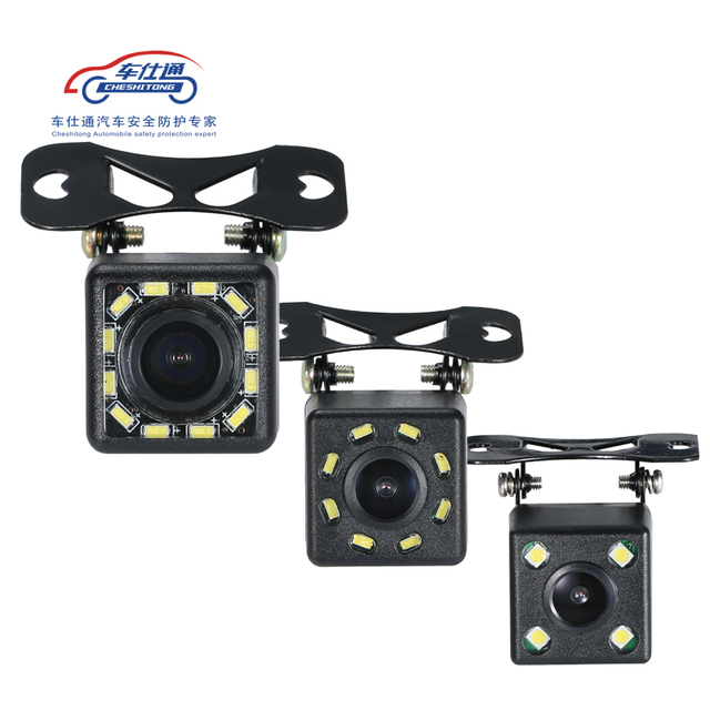 Auto Backup Kamera 4 8 12 LED licht nachtsicht rückfahr mit parkplatz linie IP68 wasserdichte Rückansicht Kamera