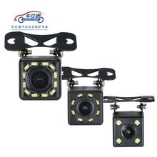 Car Backup Camera 4 8 12 LED light night vision reversing with parking line IP68  waterproof Rear View Camera