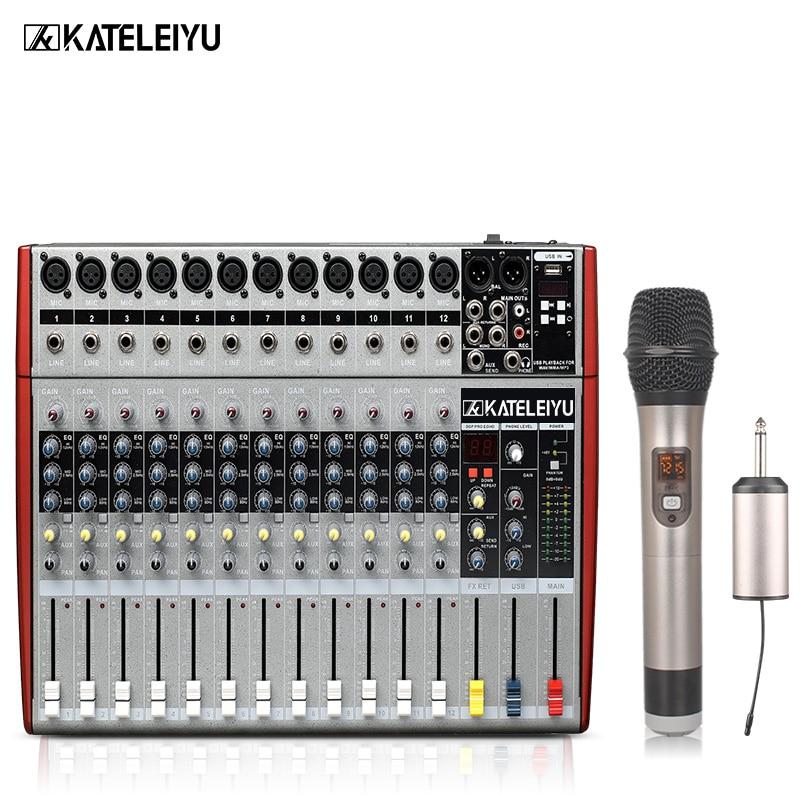 Dj Mixer W6000t12 Professionelle Mischer Audio-verstärker Sound Processor 12 Kanäle 16 Effekte + Usb Wiedergabe Und Ein Langes Leben Haben.