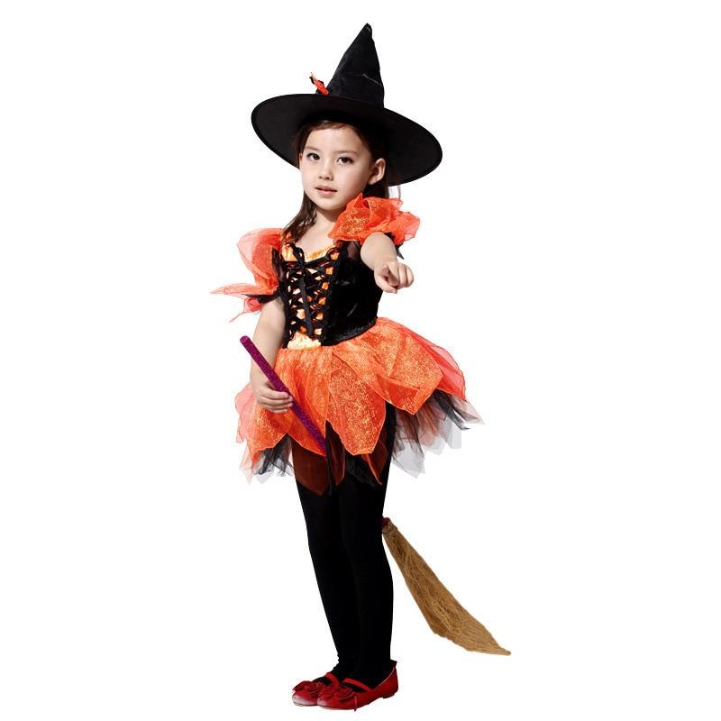 M XL disfraces Girls Halloween Witch Costumes Children ...