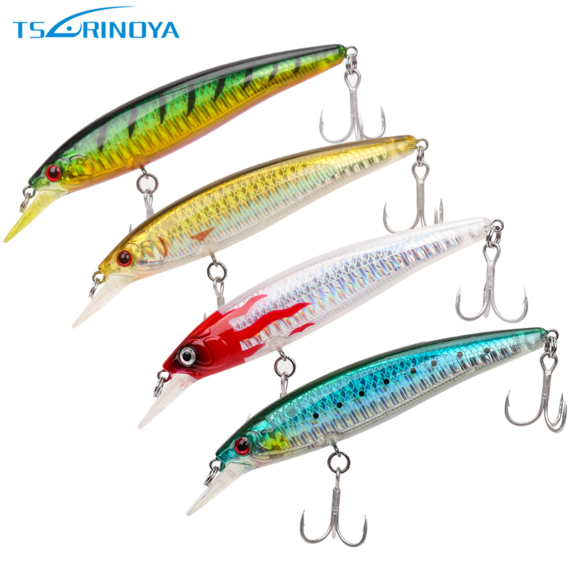 Tsurinoya DW03 110mm / 13g (4.33in / 0.46oz) Señuelo de pesca - Pescando