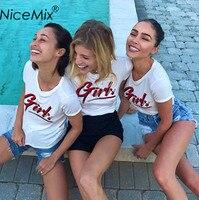 8d77870c6e NiceMix Harajuku Tumblr 2017 Summer T Shirt Women Print Girls Casual Plus  Size Short Sleeve T