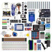 Kuongshun R3 Uno starter Kit Mais Completo Com Componentes de Alta Qualidade e Sensores