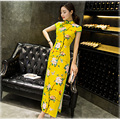 New Style Chinese Women's Silk Evening LONG Dress Cheongsam Flower Gown Chirpaur Embroidery Qipao Dress for Women